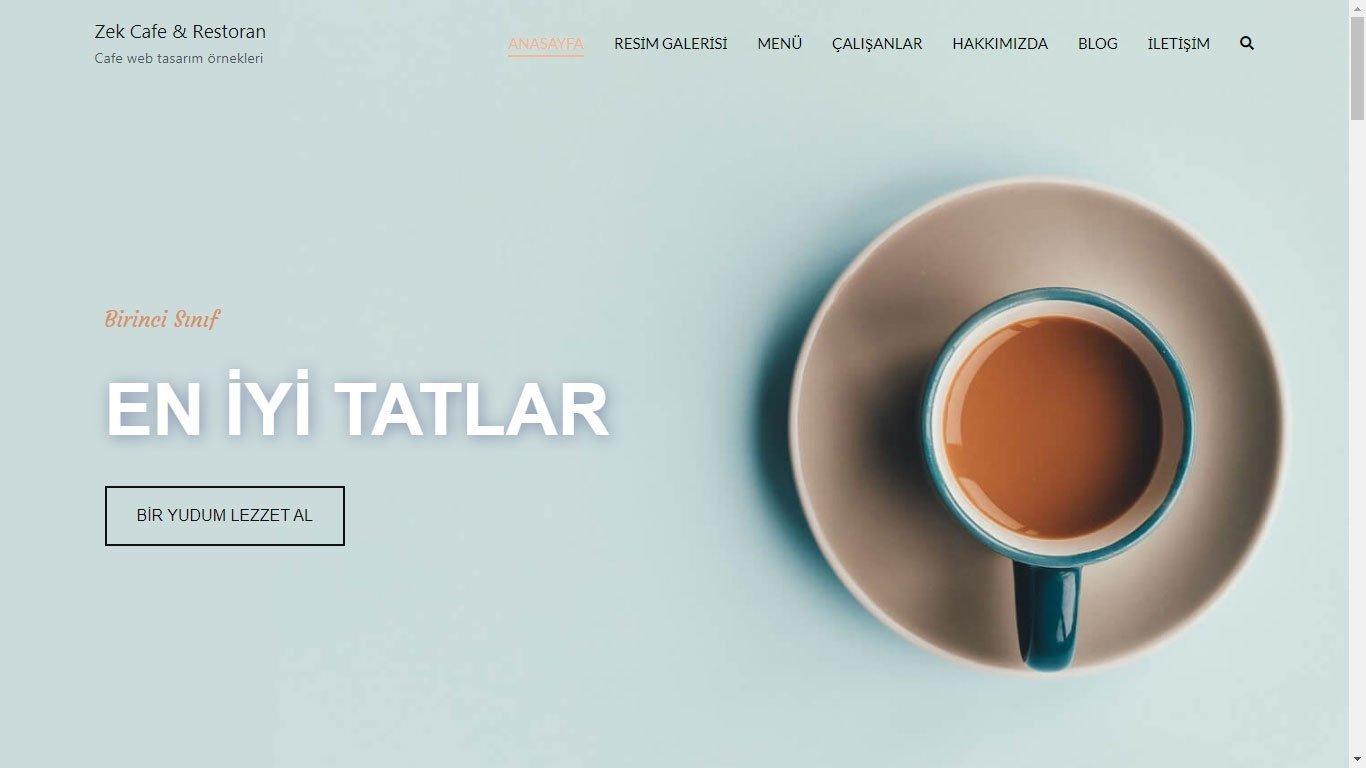 Tema 15 - Kafe, Cafe, Restoran, Fastfood Web Tasarım - Hızlı Web- Ucuz Web Sitesi