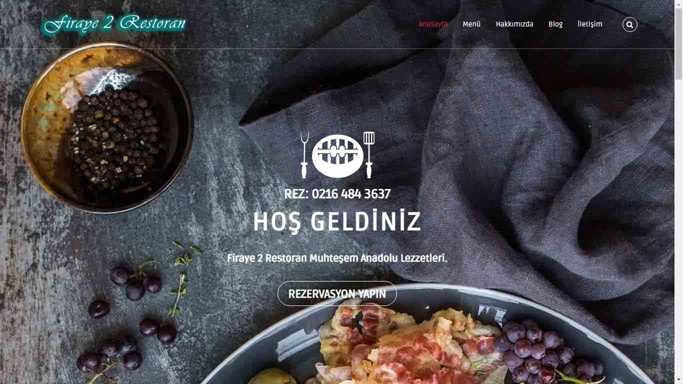 Tema 20 - Pizzacı Sitesi - Ekonomik Web Site Tasarım