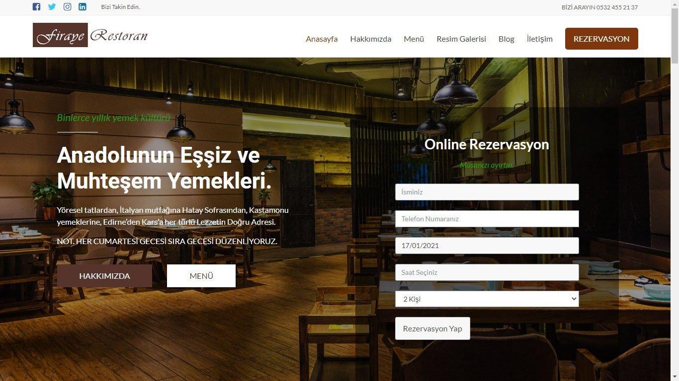 Tema 23 - Ucuz Restoran Web Tasarım