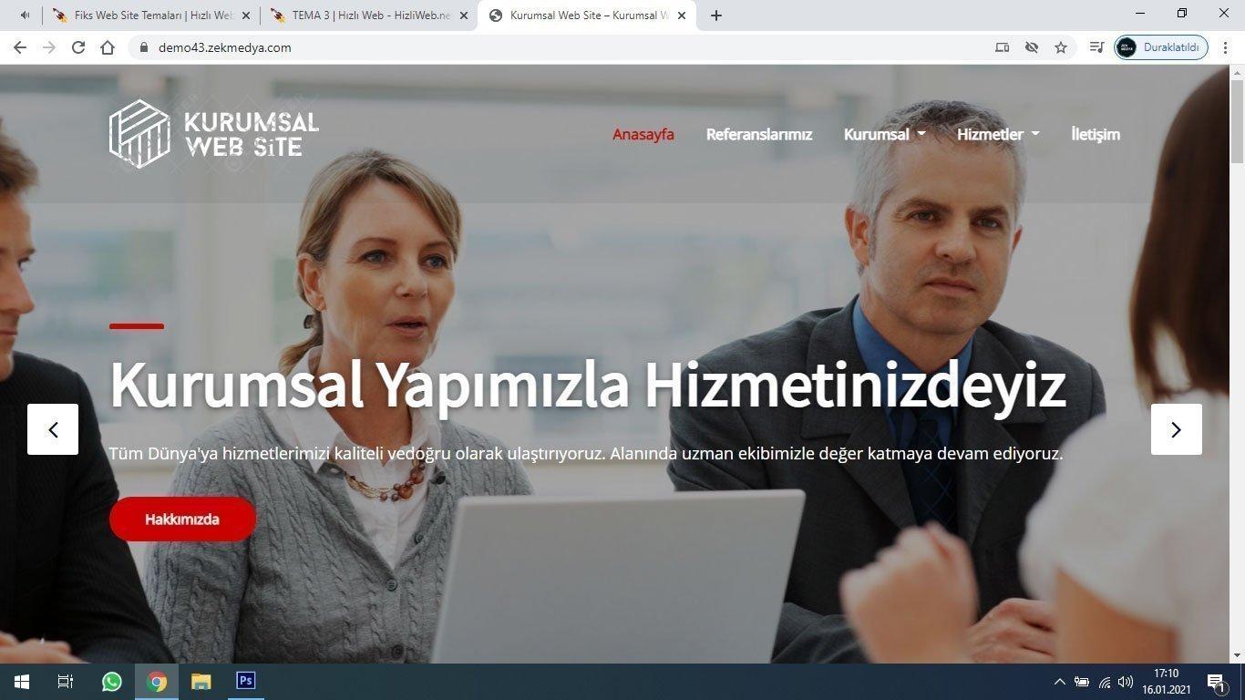 Tema 3 - Ucuz ve Kaliteli web site tasarım, sliderlı