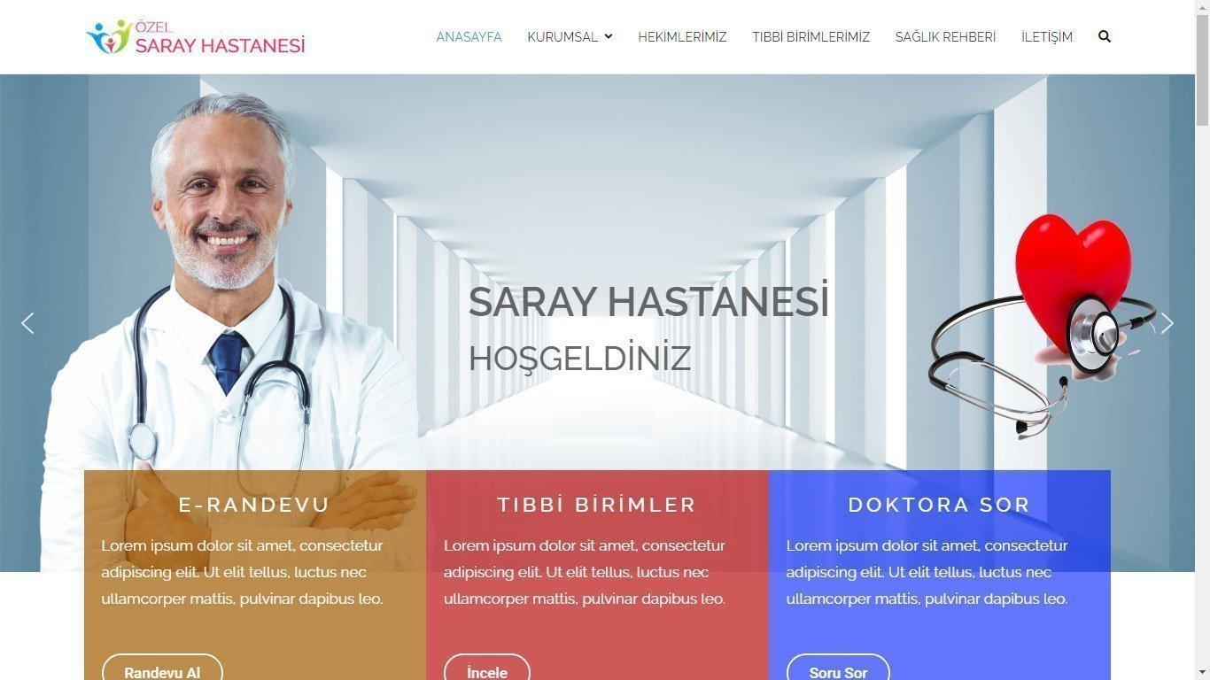 Tema 53 - Hızlı Web - Ucuz Web Tasarım - Hastane Teması - Kurumsal Web Tasarım