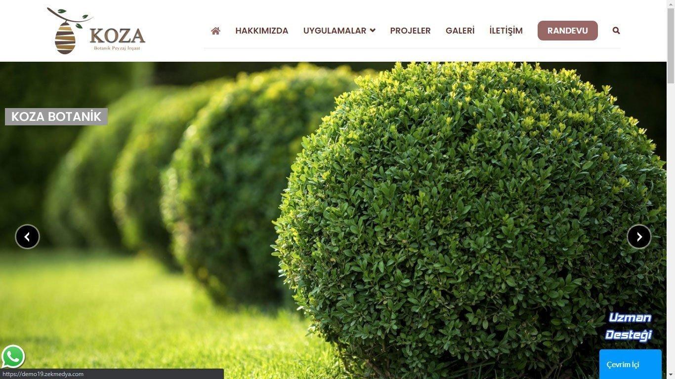 Tema 60 - Peyzaj, Peysaj, Botanik Web Tasarım - Hızlı Web