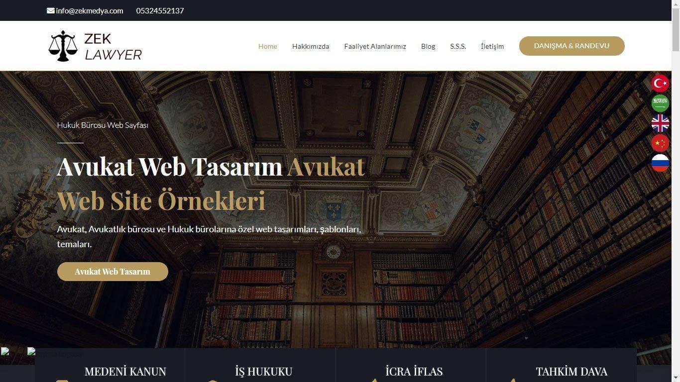 Tema 63 - Hukuk Bürosu Teması - Kurumsal Web Tasarım